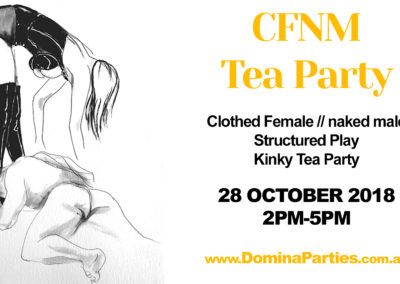 CFNM Tea Party 2-5pm