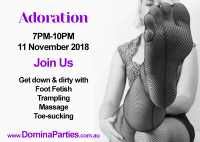 Adoration Foot Fetish Party 11 Nov 2018