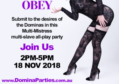 Obey Dominas Choice 18 Nov 2018