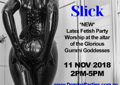 Slick Latex Fetish Party 11 Nov 2018
