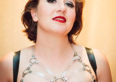 Miss Penelope Dreadful Latex PVC Corset Harness Fetish