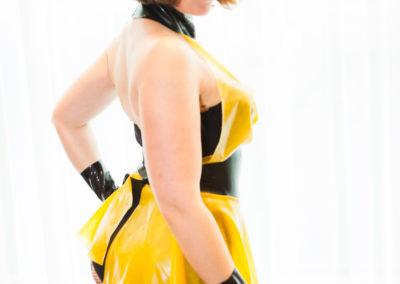 Miss Penelope Dreadful in Phoenix Latex Miss Jupiter DomCon NOLA 2017