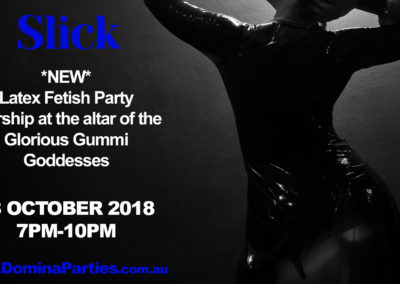 Slick Latex Domina Party 28102018