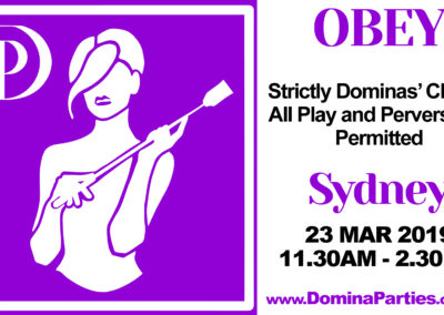 Obey Dominas Choice Sydney Domina Parties
