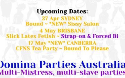 Sydney Domina Parties – 27 April