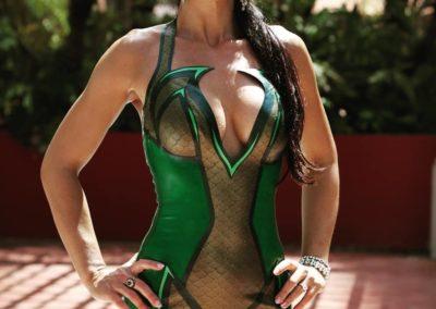 Kalyss Mercury mermaid latex dress