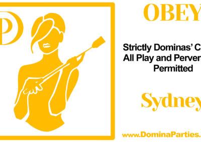 Obey! Domina Party Sydney